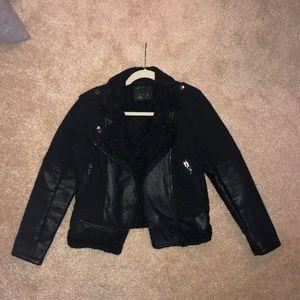 Faux Sherpa Moto Jacket - Womenswear